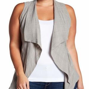 Democracy Textured Vest  Gray Size 1x